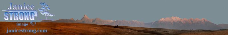 Fisher Steeples Moon Panorama Flat Dry Brush.
