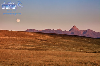 9490 Fisher Peak and Moon.