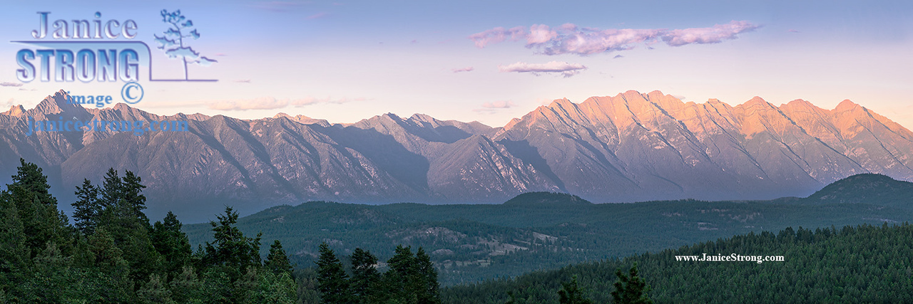 Fisher Peak and The Steeples Range of the BC Rockies Panorama