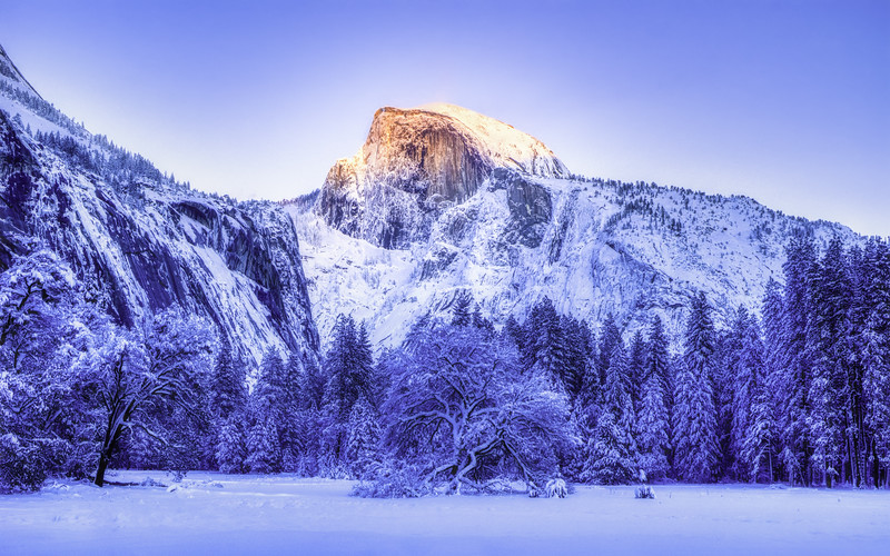 Last light of the day on Half Dome