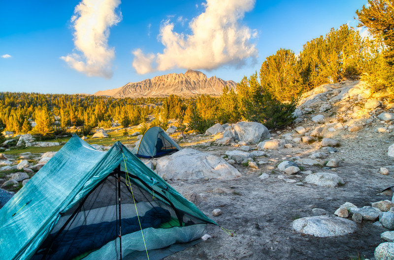 Camp at Lower Golden Trout Lake