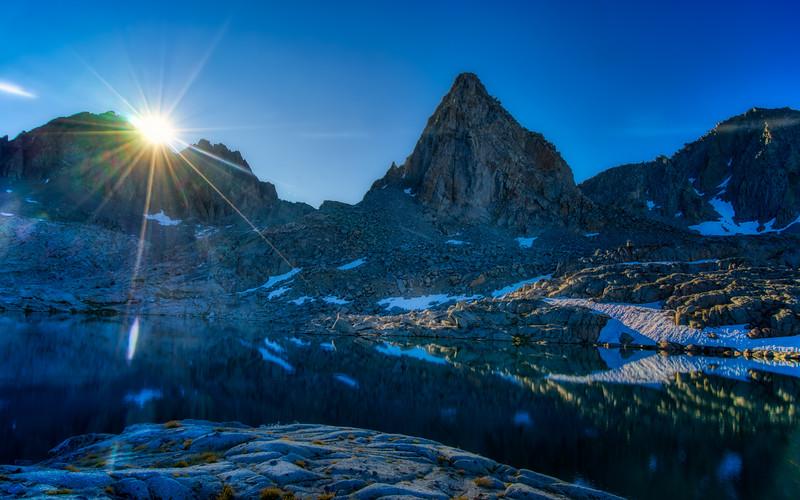 Isosceles Peak at sunrise