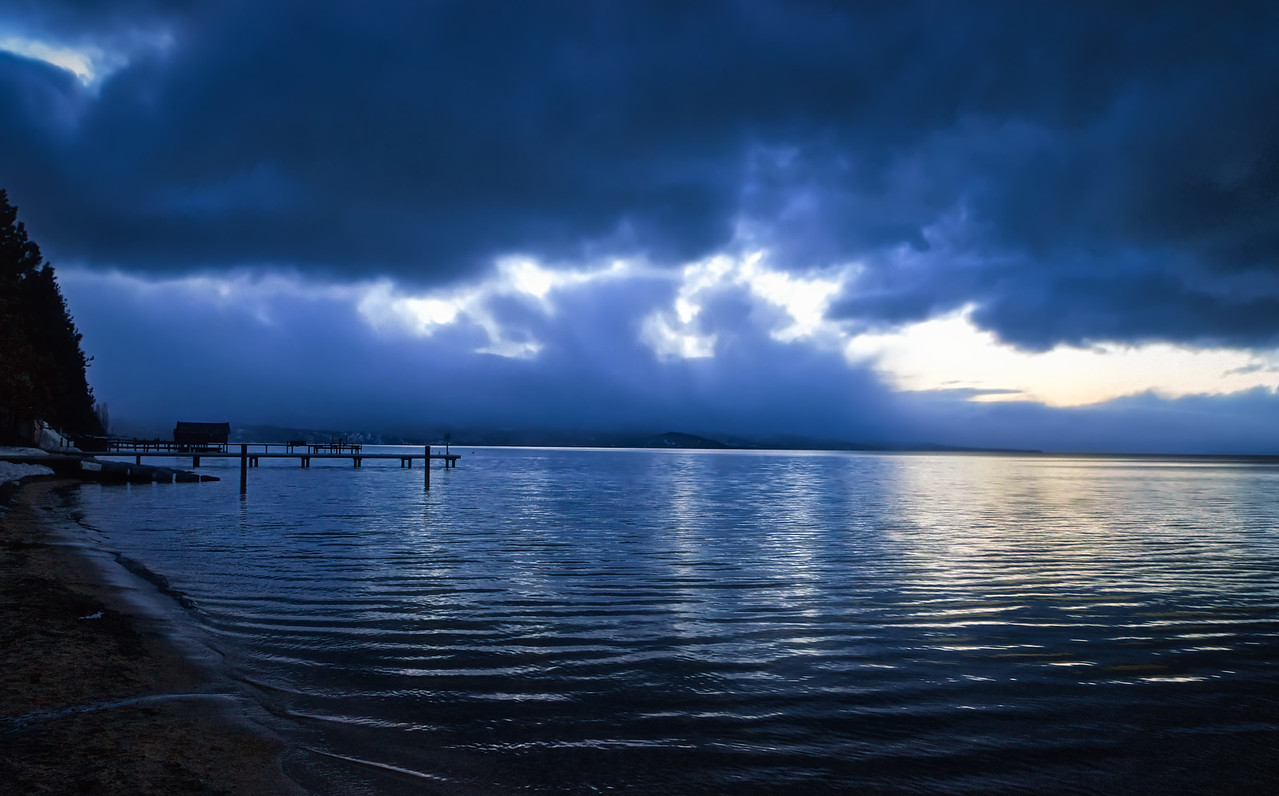 Lake Tahoe with a storm rolling in