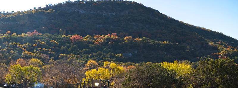 24 November 2019, Garner State Park, Texas Fall Colors! <br /> Garner State Park is a state park in the community of Concan, Texas located in Uvalde County, Texas in the United States. Garner State Park, in the Texas Hill Country, is the most popular state park in Texas for overnight camping. It often fills by noon in peak parts of the season. The park is popular with campers and local residents for its activities on the Frio River and the dances held nightly during the spring and summer.<br /> <br /> In the beginning of the 1930s, the park was originally made to save a piece of the hill country for the public and to give men, suffering from the depression, work. The land for Garner State Park was acquired in 1934 through 1936. In 1934, the Texas State Parks Board approved the location for a future state park, and the Texas Legislature provided funding for state parks. The Civilian Conservation Corps made the park's original improvements, which included a large pavilion and a concessions building. The property was conveyed to the State Parks Board in 1936, and it opened as Garner State Park in 1941. The park was named for John Nance Garner, former Vice-President of the United States who lived and practiced law in the Concan area. The park's size more than doubled when 790 acres (320 ha) were added in 1976.