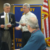 "District governor visits Tinley Park-Frankfort Rotary:<br /> <br />    The Tinley Park-Frankfort Rotary Club is working hard to make the world a better place to live by eradicating polio, alleviating poverty and supporting education around the world.<br /> <br />    On Dec. 10, Rotary President Steve Purucker (right) presented, on behalf of  the service club organization, two checks totaling $2,400 to Jim Czerwionka, the District Governor of Rotary District 6450.<br /> <br />    One check will be used for the Rotary Foundation's mission to advance world understanding, goodwill and peace through improved health and education while the other will be used to support immunization campaigns in developing countries where polio continues to infect and paralyze children.<br />    ""I'm proud to be a part of this organization,"" Steve Purucker, president of the Tinley Park-Frankfort Rotary said before presenting the checks to Czerwionka.<br /> <br />    The club, which has grown to include 18 professional and community leaders from Frankfort and Tinley Park, is part of a worldwide organization that participates in a broad range of humanitarian, intercultural and educational activities designed to improve the human condition locally, nationally and globally.<br /> <br />    Locally, it awards scholarships to high school seniors each year and donates dictionaries to third-grade students in the Harvey School District. It recently raised over $1,000 for the Crisis Center of South Suburbia, which provides emergency shelter and other essential services to individuals and families victimized by domestic violence.<br /> <br />    Rotary Club members sell poinsettias, Carson's Community Day coupon books and program booklet ads to raise cash for its many endeavors. <br /> <br />    ""Rotary lets insignificant people do some very extraordinary things,"" said Czerwionka.<br /> <br />    ""It allows me to have an impact on the world,"" he added.  ""That makes me feel good."""