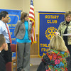 "The Tinley Park-Frankfort Rotary Club inducted two new members at its March 31 meeting. They are Laci Smith, a banking center manager for MB Financial Bank, and Jan Paul Ferrer, a financial advisor with Morgan Stanley Smith Barney.<br />  <br />    ""It is the duty of our Rotary club to add new members from time to time so that we may not only increase our usefulness and influence as a club but also to extend the spirit of Rotary throughout the community,"" said Karen Wegrzyn, Assistant District Governor for Rotary District 6450. ""Today, I welcome to our ranks and admit to membership Laci and Jan Paul.""<br /> <br />    Both individuals were elected to membership because they are admirable representatives and possess qualities that will permit them to exemplify the true spirit of Rotary in their public, business, social and private lives, she added."