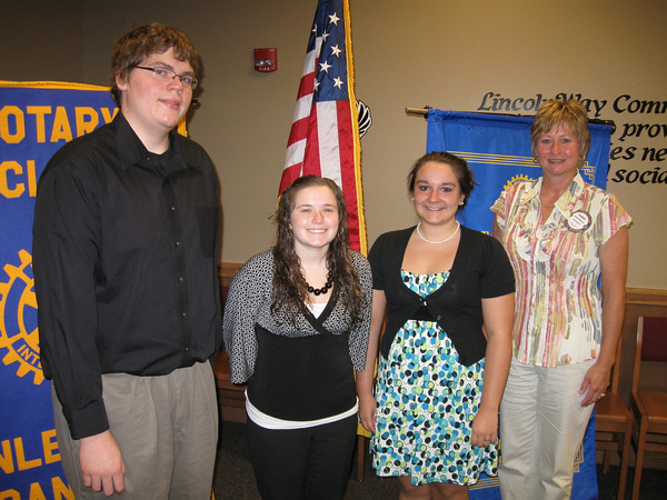 """Tinley Park-Frankfort Rotary awards scholarships to three local students<br /> <br />    Three students who have demonstrated outstanding academic achievement and service to the community were recognized Thursday by the Tinley Park-Frankfort Rotary Club. <br /> <br />    Emily Triolo, a recent graduate of Lincoln-Way East High School; Phillip Heisey a recent graduate at Tinley Park High School; and Megan Godette, a recent graduate of Andrew High School, were honored at the June 18 Rotary Club meeting.<br /> <br />    They were picked from nearly 25 applicants to receive a Rotary scholarship, totaling $600 each.<br /> <br />    """"The Tinley Park-Frankfort Rotary Club is proud to recognize the 2009 scholarship recipients for their outstanding academic achievement and service to the community,"""" said Rotary Club President Karen Wegrzyn. """"We wish them success in their college careers and look forward to hearing about their successes in the future.""""<br /> <br />   High school seniors who attend Andrew, Lincoln-Way East and Tinley Park high schools are eligible to apply for the Tinley Park-Frankfort Rotary Scholarship each year. They must demonstrate high academic achievement, service above self and need for financial assistance.<br /> <br />    Many of those selected for the Rotary scholarship are active in their school's Interact Club, a Rotary-sponsored service club for young people age 14-18. Interact members participate in community service projects, social functions, fund-raising projects and conventions.<br />  <br />    Triolo, who was involved in Interact Club and National Honor Society at East, plans to attend Loyola University in the fall and pursue a degree in psychology. Heisey has set his sights on a career in the missions field and plans to study aeronautical science at a university in Longview, Texas this fall. Godette has enrolled in pharmacy school at Purdue University.<br /> <br />    """"I plan to keep up my service to the community as well as help others w"""