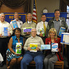 Members of the Tinley Park-Frankfort Rotary Club recently donated paper products to the Frankfort Township Food Pantry and Tinley Park Food Pantry. <br /> Pictured here from left to right are (front row) Tinley Park-Frankfort Rotary Club members Wendy Bumphis, John Lachat and Janelle Witry. Back row:  Jay Walsh, Steve Purucker, Paul Lyons (president), David Brost, Matt Lyke, Eric Spengler and Sean Brady.