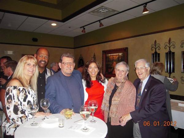 Teri & Walter Jordan, Ron Dowling & fiance Karen, and Ann & John(Rotarian) Lachat enjoying themselves at the Rotary Club Wine Tasting Event on June 1, 2012.