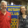Tinley Park-Frankfort Rotary Club President Paul Lyons congratulate Andrew High School graduate Molly Garand for being selected to receive a $1,000 scholarship from the club. Other recipients included Megan McClafferty from Tinley Park High School, Vanessa Stokes from Lincoln-Way East High School and Alexa Pennington from Lincoln-Way North High School.