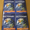 Pictured are the dictionary's that where donated...