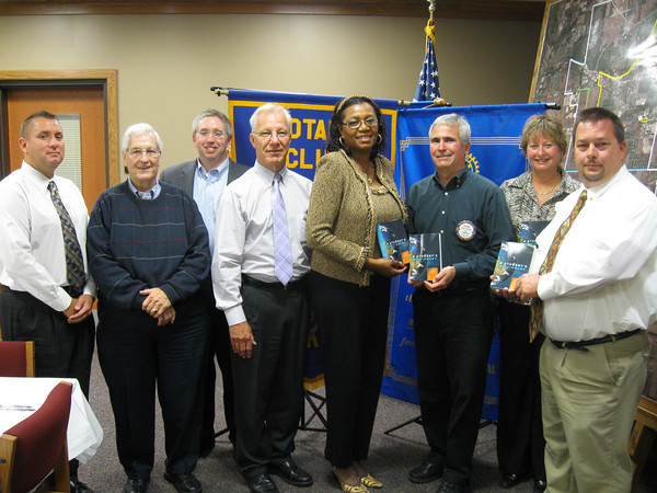"Tinley Park-Frankfort Rotary donates dictionaries to third-graders:<br /> <br />   Third-graders in Harvey School District 152 now have a resource tool of their own to turn to when looking up word spellings, facts about the planets or maps of the seven continents.<br /> <br />    The Tinley Park-Frankfort Rotary Club recently donated dictionaries to every third-grader in the district. The dictionaries were donated in memory of the late Sally Biernacki whose husband, Ted, has been a Tinley Park-Frankfort Rotarian for more than three decades.<br /> <br />    The dictionaries were presented to students during a school board meeting on Sept. 21. The books are multi-faceted and include sections about weights and measurements, biographies of the U.S. presidents, facts about each state (including the state capitals, sizes, mottos, trees, birds, flowers and songs) and copies of the Declaration of Independence and U.S. Constitution.<br /> <br />    ""This dictionary is probably one of the most powerful tools one can have in their possession,"" said District 152 Superintendent Lela Bridges. ""Thank you for choosing us. For some of our youngsters, it is their first personal book.""<br /> <br />    The Tinley Park-Frankfort Rotary Club selected the Harvey school district as recipient of the dictionaries after reading about their financial challenges in a local newspaper. This is the third year it has provided dictionaries to the district's 300 third-graders.<br /> <br />    ""It is our pleasure to do this,"" said Steve Purucker, president of the Tinley Park-Frankfort Rotary Club."