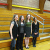 Four lucky students from Andrew, Tinley Park, Lincoln-Way East and Lincoln-Way North high schools received $500 scholarships from the Tinley Park-Frankfort Rotary Club on March 14. Pictured from left to right are the winners: Tinley Park senior Christina Arden, Lincoln-Way North senior Gabrielle Labriola, Lincoln-Way East senior Molly Imgruet and Andrew senior Kris Tupas.