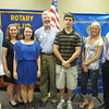 Paul Lyons (center), president of the Tinley Park Frankfort Rotary Club, joins scholarship winners Deirdre Harrington, Mallory Kowaleski, Emily Power, Kevin Hendzel, Noelle Thompson and Joshua Dietrich for a group photo at the June 9 Rotary meeting. Six scholarships totaling $4,000 were awarded to the six students who recently graduated from Lincoln-Way North, Lincoln-Way East, Tinley Park and Andrew high schools.