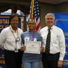 Tinley Park High School senior Tatiana Robinson (center) poses for a photo with Tinley Park High School Assistant Principal Wendy Bumphis and Tinley Park-Frankfort Rotary Club President Steve Purucker. Robinson recently attended a three-day Rotary Youth Leadership Awards (RYLA) conference in Wisconsin.