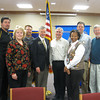 New rotarians inducted: <br /> <br /> The Tinley Park-Frankfort Rotary recently welcomed six new members to the club. Pictured here are: Andrew High School guidance counselor Jim Malec, Tinley Park attorney Nancy DuCharme, Andrew High School guidance counselor John Tadla, District Governor of Rotary District 6450 Jim Czerwionka, Tinley Park-Frankfort Rotary Club President Steve Purucker, Tinley Park High School Assistant Principal Wendy Bumphis, Computer Security Consultant Erich Spengler of Frankfort and Home Helpers President Paul Lyons.