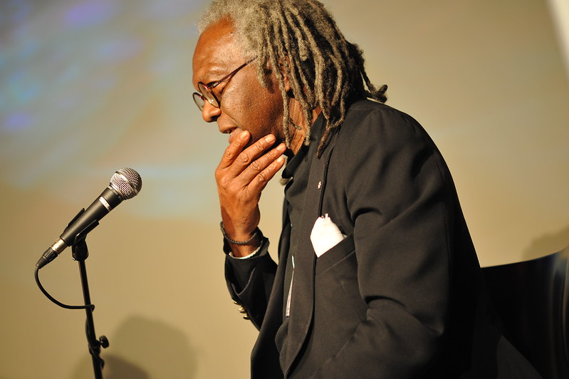 Austin Clarke speaking at the Writers Festival 2008