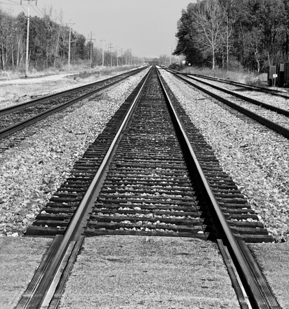 Looking Down Rail Tracks