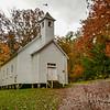 Autumn Swirls At Cades Cove Missionary Baptist Church