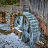 Frozen Wheel At The Grist Mill