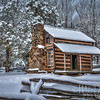 A Snowy John Oliver Cabin