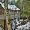 Frozen John P. Cable Grist Mill