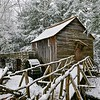 Snowing At The Grist Mill