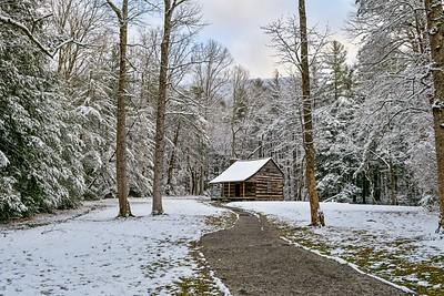December Snow At Carter's Cabin