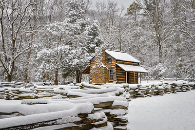 First Snow At The Oliver Cabin