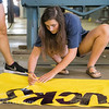 Class of 2019 Homecoming float building. September 24, 2017.