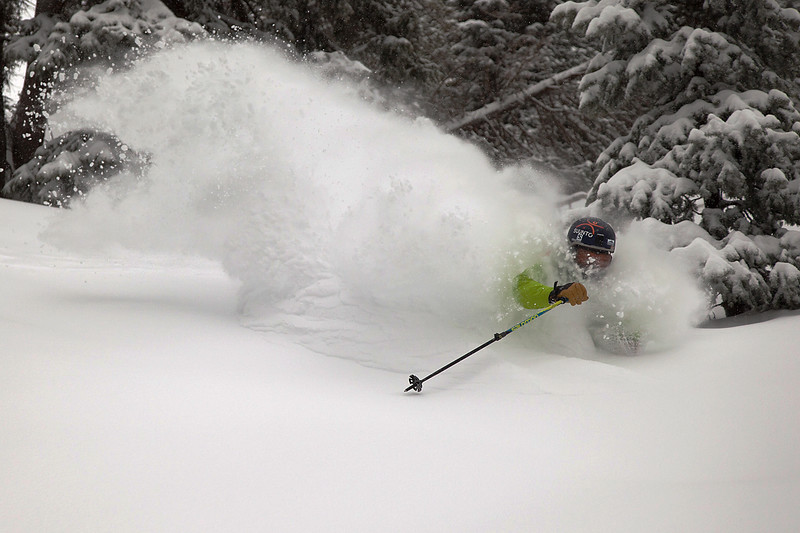 Brody Leven finding powder at Alta, Utah.