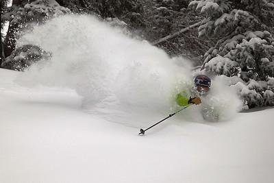 Brody Leven finding powder at Alta, Utah.