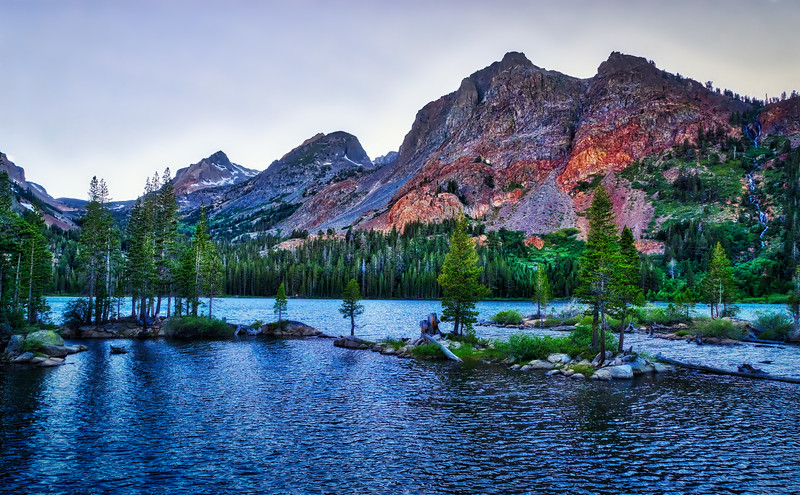 Sunset over Green Lake and Virginia Pass