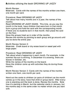 Growing Up Jazzy Months