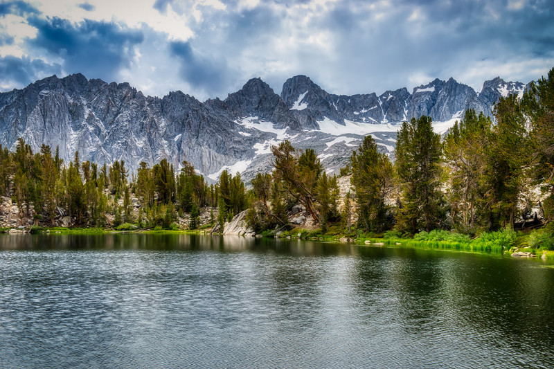 Summit Lake and the Palisade Crest