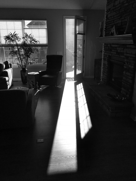 Walk into the Light in Black and White
