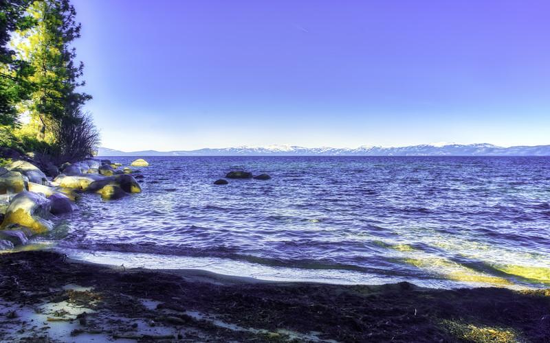 A winter day at Lake Tahoe
