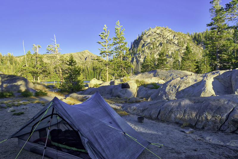 Camp at Dardanelles Lake
