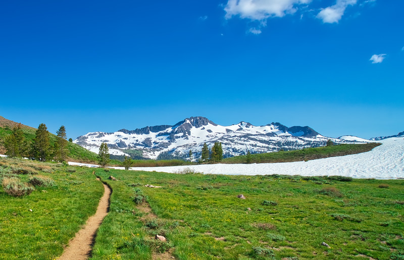 Round Top and The Sisters as seen from the PCT just north of Carson Pass