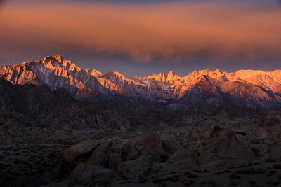 Alabama Hills Sunrise, Mt Whitney, Lone Pine, CA