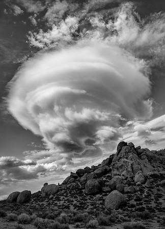 Lenticular Clouds, The Buttermilks, Bishop, CA