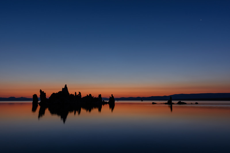 South Tufa Silhouettes At Dusk, Mono Lake