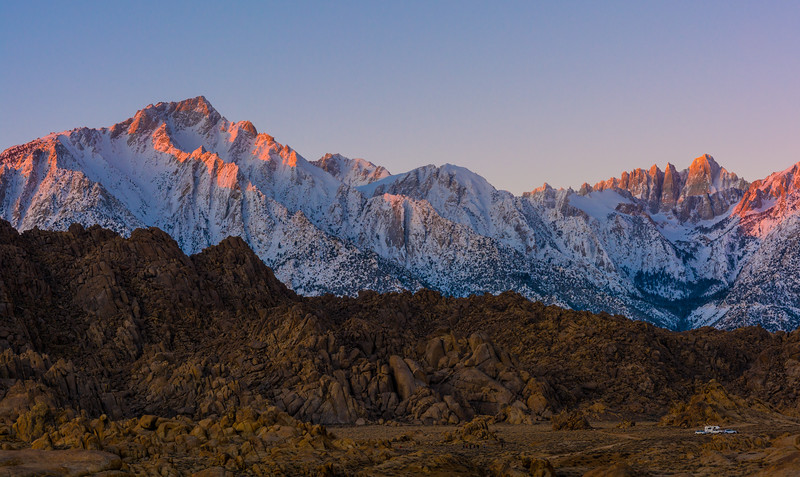WInter Sunrise, Alabama Hills, CA