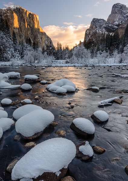 Winter Sunrise, Gates Of The Valley, Yosemite