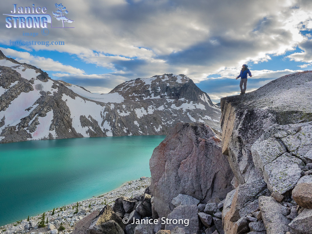 Thunderwater Lake in the alpine of the Purcell Mountains BC