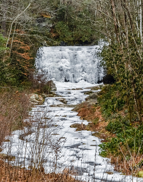 Frozen Meigs Falls