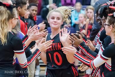 Martin vs. Daniels girls basketball. December 12, 2017.