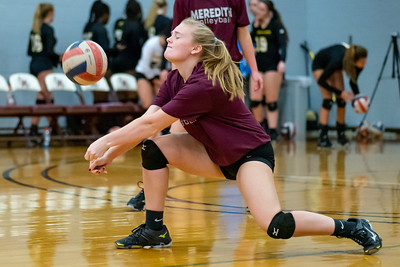 Meredith Volleyball senior night.. October 19, 2019. D4S_5733