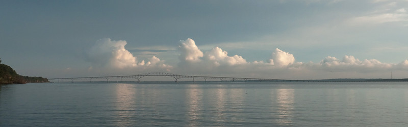 Harry W. Nice bridge over Potomac River at sundown<br /> Newburg, MD