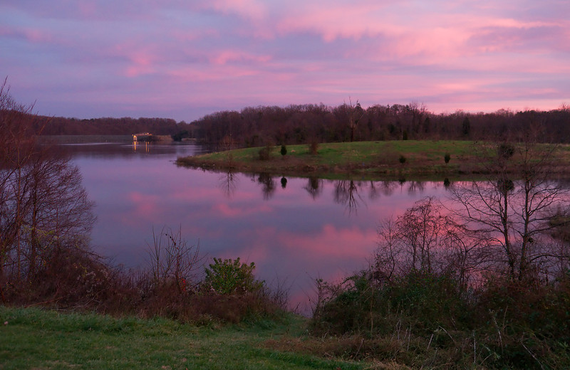 Little Seneca Lake at sunset <br /> Black Hill Regional Park, Boyds, MD